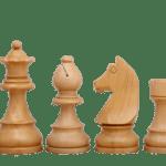 Downhead German Staunton Chess Pieces Ebonised Boxwood 3.75″