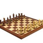 Master Range Wooden Chess Set Mahogany Board 21″ Weighted Sheesham Atlantic Classic Staunton Pieces 3.75″