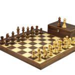 Master Range Wooden Chess Set Walnut Board 21″ Weighted Sheesham German Staunton Pieces 3.75″