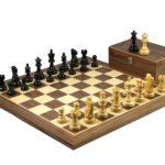 Master Range Wooden Chess Set Walnut Board 21″ Weighted Ebonised Atlantic Series Classic Staunton Pieces 3.75″
