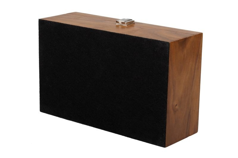 """Chess Box Large Walnut With Metal Clasp 3.75/"""""""