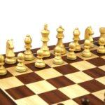 Master Range Wooden Chess Set Mahogany Board 21″ Weighted Sheesham German Staunton Pieces 3.75″
