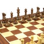 Master Range Wooden Chess Set Mahogany Board 21″ Weighted Sheesham Morphy Series Professional Staunton Pieces 3.75″