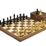 Master Range Wooden Chess Set Walnut Board 21″ Weighted Ebonised Morphy Series Professional Staunton Pieces 3.75″