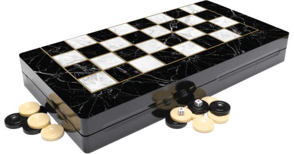 backgammon set marble yenigun