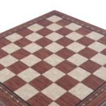 "Premium Range Helena Chess Board ""Rosewood""- 23″"