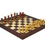 Executive Range Wooden Chess Set Macassar Board 20″ Weighted Sheesham Zagreb Staunton Pieces 3.75″