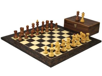 Executive Range Wooden Chess Set Tiger Ebony Board 20″ Weighted Sheesham Zagreb Staunton Pieces 3.75″