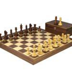 Master Range Wooden Chess Set Walnut Board 21″ Weighted Sheesham Staunton Fierce Knight Pieces 3.75″