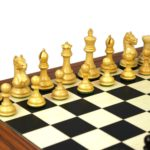 Executive Range Wooden Chess Set Palisander Board 20″ Weighted Ebonised Staunton Fierce Knight Pieces 3.75″
