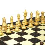 Executive Range Wooden Chess Set Tiger Ebony Board 20″ Weighted Sheesham Staunton Fierce Knight Pieces 3.75″