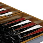 "Classic Range Chess & Backgammon Set ""Marble""- 19″"