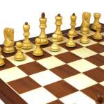 Executive Range Wooden Chess Set Mahogany Board 20″ Weighted Sheesham Zagreb Staunton Pieces 3.75″