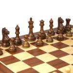 Executive Range Wooden Chess Set Mahogany Board 20″ Weighted Sheesham Staunton Fierce Knight Pieces 3.75″