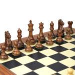 Executive Range Wooden Chess Set Palisander Board 20″ Weighted Sheesham Staunton Fierce Knight Pieces 3.75″
