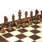 Master Range Wooden Chess Set Wenge Board 21″ Weighted Sheesham Staunton Fierce Knight Pieces 3.75″