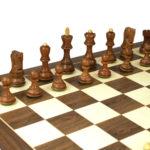 Master Range Wooden Chess Set Walnut Board 21″ Weighted Sheesham Zagreb Staunton Pieces 3.75″