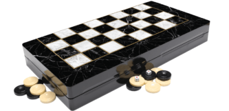 "Classic Range Backgammon Set ""Marble""- 19″"