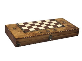 "Luxury Range Helena Backgammon Set ""Rural Bird Eye Maple"" – 20″  2150"