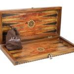 "Luxury Range Helena Backgammon Set ""Rural Rosewood"" – 20″  2150"
