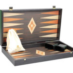 """Executive Range Manopoulos Backgammon Set """"Wenge & Oak""""- 20″"""