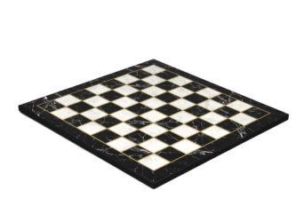 "Classic Range Wooden Flat Chess Board ""Black Marble""- 14″"