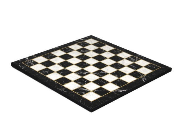 black marble chess board