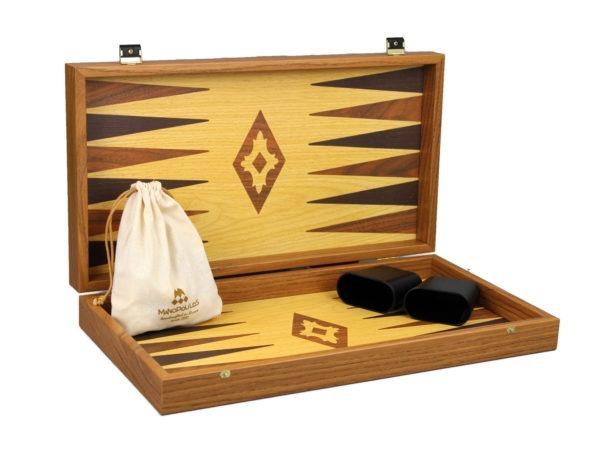 oak an walnut manopoulos backgammon set