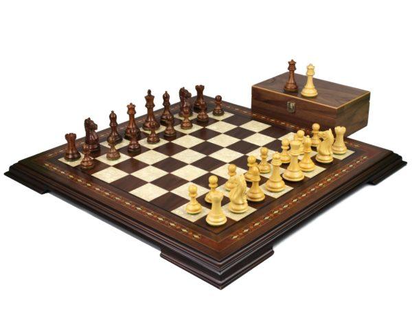 walnut staunton chess set with fierce knight staunton chess pieces