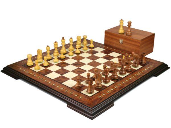 staunton chess set with zagreb sheesham chess pieces