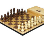 """Classic Range Wooden Chess Set With Pieces and Storage Box """"Oak""""- 14″"""