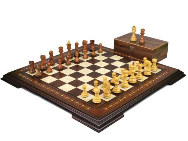walnut staunton chess set with zagreb staunton chess pieces