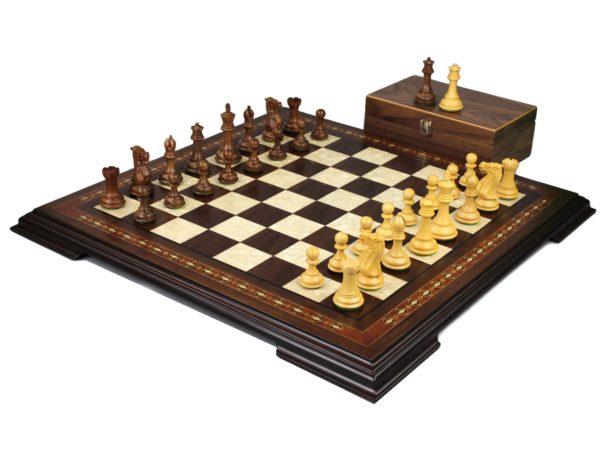 walnut staunton chess set with professional staunton chess pieces