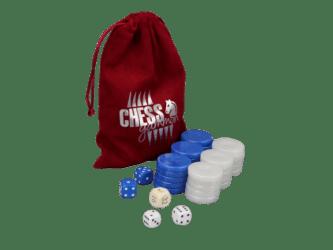 Backgammon Pieces 'Acrylic Pearl Blue' – 36 mm
