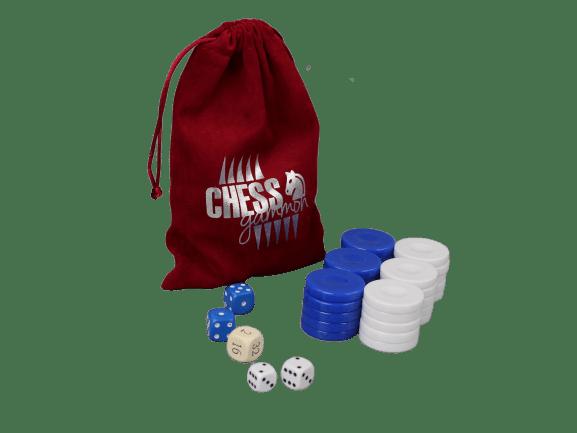 acrylic blue backgammon pieces