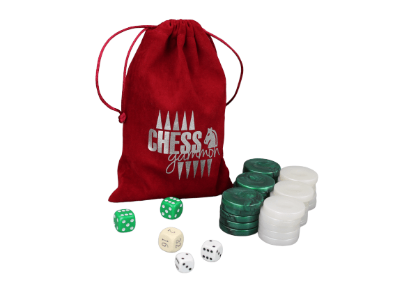 acrylic green backgammon pieces