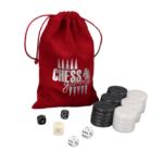 Backgammon Pieces 'Acrylic Pearl Black' – 36 mm