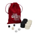 Backgammon Pieces 'Acrylic Black' – 36 mm