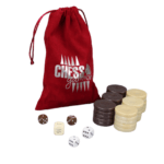 Backgammon Pieces 'Acrylic Pearl Brown' – 36 mm