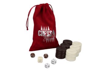 Backgammon Pieces 'Acrylic Brown' – 36 mm