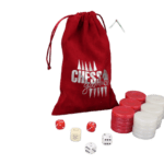Backgammon Pieces 'Acrylic Pearl Red' – 36 mm