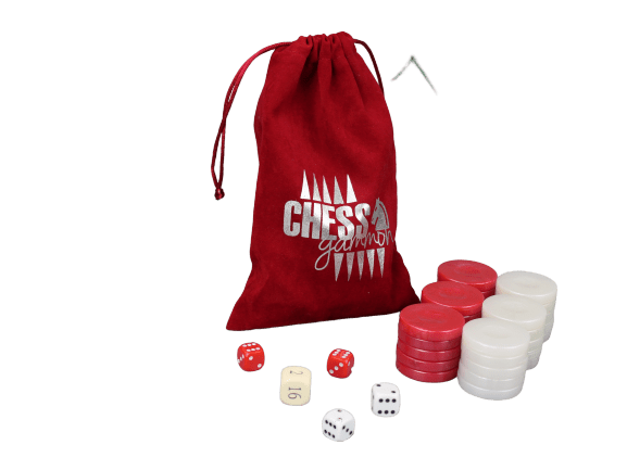 acrylic red backgammon pieces