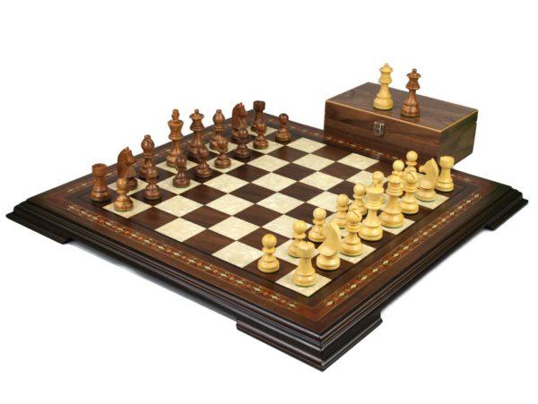 staunton chess set walnut with german staunton chess pieces