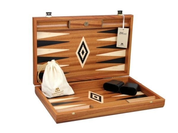 mahogany manopoulos backgammon set