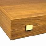 """Executive Range Manopoulos Backgammon Set """"Oak & Walnut""""- 23″  Storage Racks Included"""