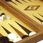 """Executive Range Manopoulos Backgammon Set """"Oak & Walnut""""- 20″"""