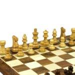 Original Range Chess Set Sheesham Flat Board 16″ With French Lardy Staunton Chess Pieces 3″