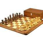 Original Range Chess Set Sheesham Flat Board 16″ With Atlantic Classic Staunton Chess Pieces 3″
