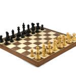 Master Range Wooden Chess Set Walnut Board 21″ Weighted Ebonised Reykjavik Staunton Pieces 3.75″