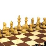 Executive Range Wooden Chess Set Mahogany Board 20″ Weighted Ebonised Reykjavik Staunton Pieces 3.75″